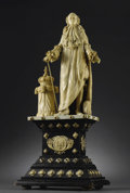 Decorative Arts, Continental:Other , A French Carved Ivory Figure Of Louis XVI. Unknown maker, possiblyDieppe, France. Nineteenth Century. Ivory and ebonized ...