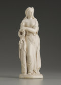 Decorative Arts, Continental:Other , A European Carved Ivory Figure. Unknown maker, Continental. EarlyTwentieth Century. Ivory. Unmarked. 7.37 in. high. Of ...