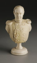 Decorative Arts, Continental:Other , A Russian Ivory Bust. Unknown maker, Russia. 1855. Ivory. Marks:Inscribed on the reverse in Cyrillic, 1855. 6.12 in....