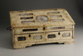 Decorative Arts, Continental:Other , A Rare Colonial Indian Ivory Writing Box. Unknown maker,Vizagaptam, India. Eighteenth Century. Ivory, glass, wood.Unmark...