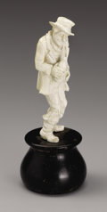 Decorative Arts, Continental:Other , A European Carved Ivory Figure. Unknown maker, Continental.Twentieth Century. Ivory and wood. Unmarked. 4.18 in. high. ...