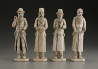 A Set of Four Eastern European Carved Ivory Hasidic Figures  Unknown maker, Eastern European Nineteenth Century Ivory U...