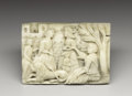 Decorative Arts, Continental:Other , A Continental Carved Bone Plaque. Unkown maker, Continental,possibly Italian. Sixteenth / Seventeenth Century. Bone. Unma...