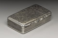 Silver Smalls:Snuff Boxes, A Victorian Silver Snuff Box. Francis Clark, Birmingham, England.1840-41. Silver and silver gilt. Marks: (lion passant),... (Total:1 Item)