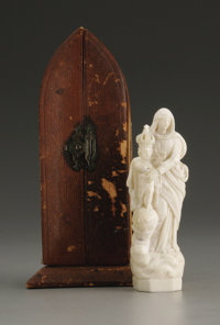 A French Carved Ivory Figure  Unmarked, possibly Dieppe, France Nineteenth Century Ivory Marks: inscribed on the rever...