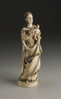 Decorative Accessories, A Colonial Carved Ivory Figure. Unknown maker, Colonial Spain. Nineteenth Century. Ivory. Unmarked. 8.5 in. high. A Colo...