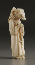 Decorative Arts, Continental:Other , A Well-Carved French Ivory Satirical Figure. Unknown maker,possibly Dieppe, France. Eighteenth/Nineteenth Century. Ivory...