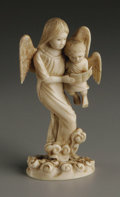 Decorative Arts, Continental:Other , A Chinese Export Carved Ivory Group. Unknown maker, China.Twentieth Century. Ivory. Unmarked. 4.5 in. high. A Chinese e...