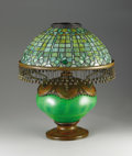 Decorative Arts, American:Lamps & Lighting, An American Leaded Glass Blown-Out Table Lamp. Tiffany Studios, New York, New York. Circa 1890-1900. Leaded glass, glass, ...