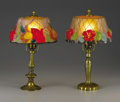 Lighting:Lamps, Two American Art Glass Lamps. Pairpoint Manufacturing Company, New Bedford, Massachusetts. Early Twentieth Century. Blown,... (Total: 4 Items Item)