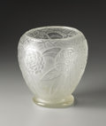 Art Glass:Steuben, An American Etched Glass Vase. Steuben, New York. TwentiethCentury. Glass. Marks: acid stamped Steuben across abanne...
