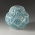 Art Glass:Other , A French Art Glass Vase. Andre Hunebelle, France. Circa 1930.Molded and frosted glass. Marks: A. HUNEBELLE, HUNEBELLE ...