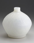 Art Glass:Lalique, A French Glass Vase. R. Lalique, 1920. In the 'Plumes' pattern depicting fern fronds in an opalescent ground, marked u...