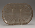 Art Glass:Lalique, A French Art Glass Tray. Rene Lalique, Paris, France. Designed1936. Patinated glass. Marks: R. LALIQUE, FRANCE. 15.2...