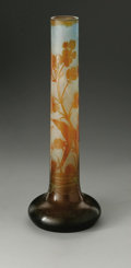 Glass, A French Art Glass Vase. Veuve Galle, Nancy, France. Early Twentieth Century. Glass. Marks: (star), Galle. 17.37 in. ...