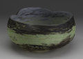 Art Glass:Daum, A French Glass Bowl. Daum Nancy, c.1900. The bowl in a mottledground of brown to green to brown, incised signature to the...