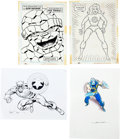 Original Comic Art:Sketches, Raphael Lopez Espi, Mike Zeck, and Others Marvel Heroes and Villain Sketch Original Art Group (undated).... (Total: 4 Items)