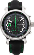 Timepieces:Wristwatch, Martin Braun New Grand Prix Dakar/G Steel Automatic Chronograph....