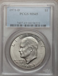 Eisenhower Dollars: , 1971-D $1 MS65 PCGS. PCGS Population (2342/828). NGC Census: (1157/609). Mintage: 68,587,424. Numismedia Wsl. Price for pro...
