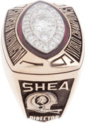 Football Collectibles:Others, 1982 Washington Redskins Super Bowl Championship Ring Presented to William Shea....