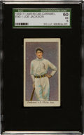 Baseball Cards:Singles (Pre-1930), 1909-11 E90-1 American Caramel Joe Jackson SGC 60 EX 5 - From NewlyDiscovered Collection....