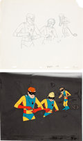 Animation Art:Production Cel, Space Ghost Production Cel and Drawing Animation Art Group(Hanna-Barbera, 1965).... (Total: 2 Original Art)