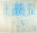 Memorabilia:Movie-Related, Batman Returns Set Design Blueprint (Warner Brothers,1992)....