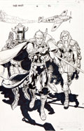 Original Comic Art:Splash Pages, Glen Fabry Thor Vikings #4 Splash Page 22 Original Art(Marvel, 2003)....
