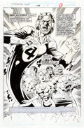 Original Comic Art:Splash Pages, Paul Ryan and Danny Bulanadi Fantastic Four #408 Splash Page1 Original Art (Marvel, 1996)....