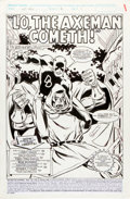 Original Comic Art:Splash Pages, Dale Keown and Fred Fredericks Nth Man The Ultimate Ninja #8Daredevil and Dr. Doom Splash Page 1 Original Art (Ma...