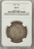 Bust Half Dollars: , 1822 50C AU55 NGC. NGC Census: (70/272). PCGS Population (95/253).Mintage: 1,559,573. Numismedia Wsl. Price for problem fr...
