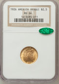 Commemorative Gold: , 1926 $2 1/2 Sesquicentennial MS64 NGC. CAC. NGC Census:(2752/1185). PCGS Population (4266/1949). Mintage: 46,019.Numismed...