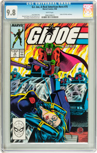 G. I. Joe, A Real American Hero #75 (Marvel, 1988) CGC NM/MT 9.8 White pages