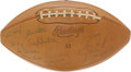 Football Collectibles:Balls, 1959 New York Giants Team Signed Football - Eastern Division Championship Season! ...