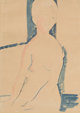 AMEDEO MODIGLIANI (Italian, 1884-1920) Femme nue assise, 1916 Pencil and watercolor on paper 15-1/2 x 11-1/2 inches (