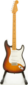 Musical Instruments:Electric Guitars, Circa 1990's Fender Stratocaster USA Sunburst Solid Body ElectricGuitar, #V067492....