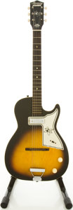 Musical Instruments:Electric Guitars, 1960's Harmony Stratotone Sunburst Semi-Hollow Body Electric Guitar....