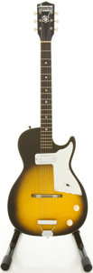 Musical Instruments:Electric Guitars, 1960's Harmony Stratotone Sunburst Solid Body Electric Guitar....