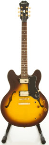 Musical Instruments:Electric Guitars, Epiphone DOT Sunburst Semi-Hollow Body Electric Guitar,#I00031018....