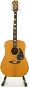 Musical Instruments:Acoustic Guitars, Circa 1970's Epiphone PR765 Natural Acoustic Guitar, #1260409....
