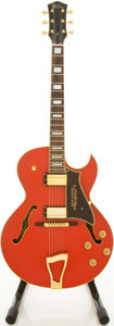 Musical Instruments:Electric Guitars, Guitar Research Eddie Durham JX 16R Red Archtop Electric Guitar,#160014....