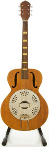 Musical Instruments:Resonator Guitars, Circa 1950's Kay Natural Resonator Guitar....