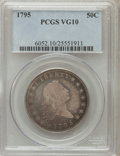 Early Half Dollars, 1795 50C 2 Leaves VG10 PCGS. O-109, R.4....