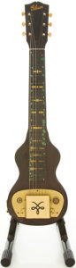 Musical Instruments:Lap Steel Guitars, Circa Early 1940's Gibson BR-6 Refinished Lap Steel Guitar....