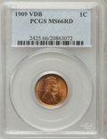 Lincoln Cents: , 1909 VDB 1C MS66 Red PCGS. PCGS Population (1937/207). NGC Census:(1411/102). Mintage: 27,995,000. Numismedia Wsl. Price f...