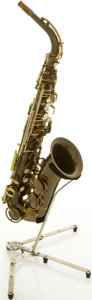 Musical Instruments:Horns & Wind Instruments, Circa Late 1940's King Zephyr Brass Alto Saxophone, #285109....