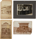 Photography:Cabinet Photos, Four Great Vintage Saloon Photos. ... (Total: 4 Items)