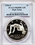 Modern Issues: , 1996-P $1 Olympic/High Jump Silver Dollar PR68 Deep Cameo PCGS.PCGS Population (207/1146). NGC Census: (53/1161). Numisme...