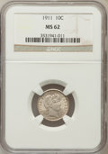 Barber Dimes: , 1911 10C MS62 NGC. NGC Census: (109/579). PCGS Population(137/684). Mintage: 18,870,544. Numismedia Wsl. Price forproblem...