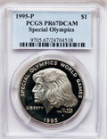 Modern Issues: , 1995-P $1 Special Olympics Silver Dollar PR67 Deep Cameo PCGS. PCGSPopulation (25/1273). NGC Census: (5/1188). Numismedia...